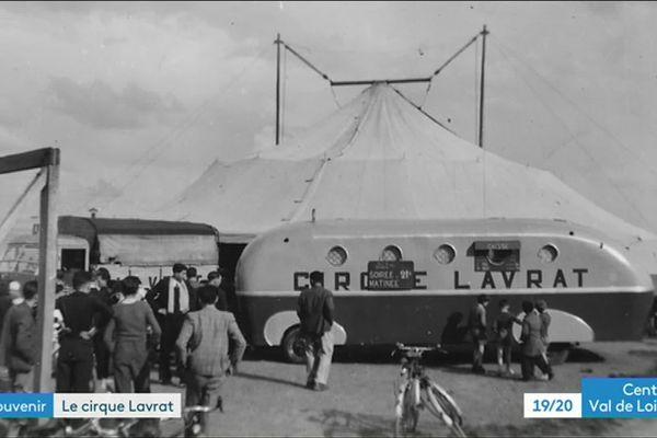 Le cirque Lavrat dans les années 50 à Orléans (Loiret)