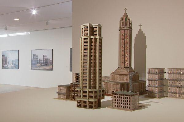 Les maquettes des archives de la ville et celles créees par Philippe de Gobert pour ses oeuvres photographiques