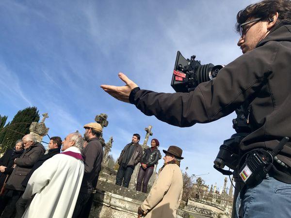 """Le tournage de """"Un mensonge oublié"""", en novembre 2017, à Eymoutiers"""