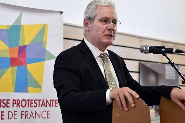 """""""Quelles que soient les décisions, il y aura des déceptions"""", a prévenu le président du conseil national de l'EPUdF, le pasteur Laurent Schlumberger, ici à Sète le 14 mai."""