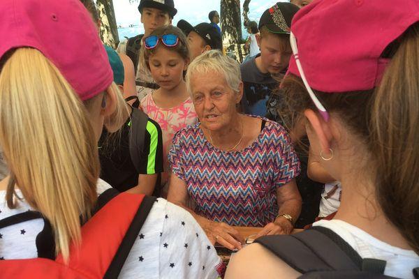 Andrée Imberti était écolière à Ugine sous l'Occupation