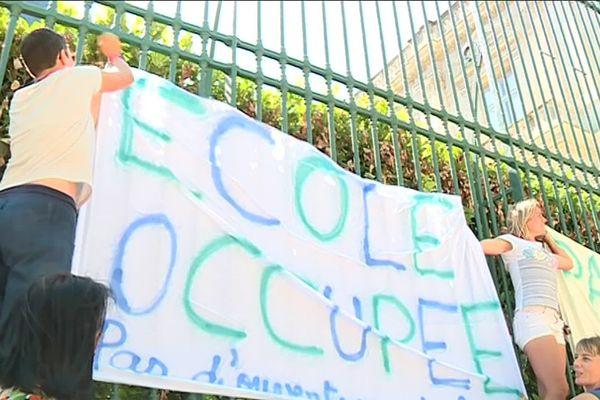 Ecole occupée à Nages-et-Solorgues (Gard) le 5 septembre 2019