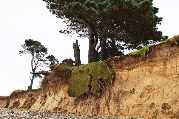 A Plougrescant (Côtes d'Armor), la côte avait été touchée par l'érosion dunaire après le passage des grandes marées en 2019.