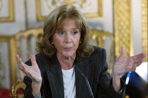 L'avocate Gisèle Halimi en novembre 2014 lors d'une conférence de presse à Paris.