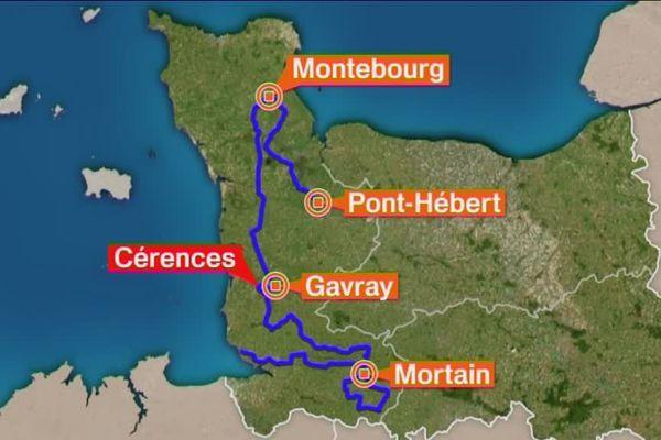 Le parcours du 53e Tour de la manche