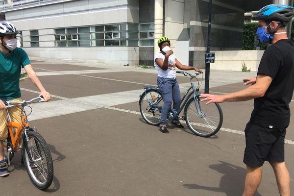 Cours de remise en selle avec l'association Roazhon Mobility, à Rennes