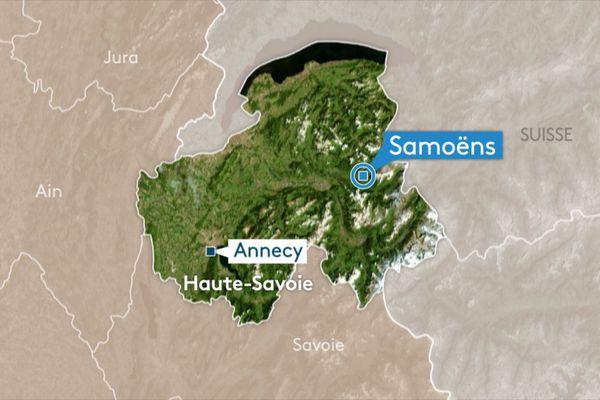 Accident de camion sur D 907 à Samoens (74)