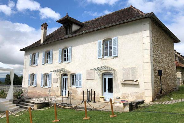 Ain : Jean Castex en déplacement à Izieu pour la journée nationale de Mémoire -16/7/21. La Maison d'Izieu est l'un des 3 lieux de la mémoire nationale.