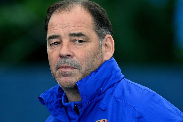 Stéphane Moulin, l'entraîneur du Stade Malherbe de Caen