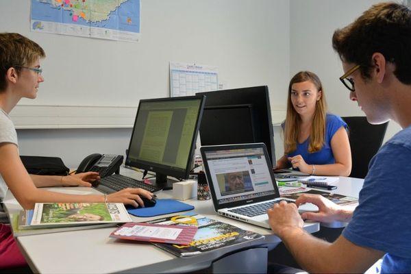De gauche à droite, Emilie Dolladille, Amandine Briand et Jérémy Collado, l'équipe de Gomet'.