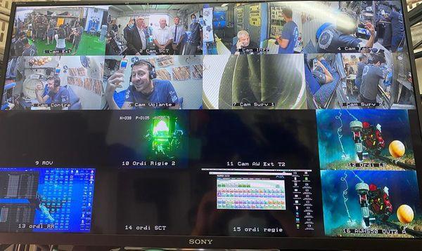 Les différentes caméras installées dans la station, permettant aux membres de l'expédition de suivre le quotidien des aquanautes et l'avancée des recherches.