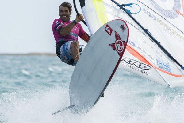Antoine Albeau, ici lors des championnats du monde de 2014 à Nouméa.