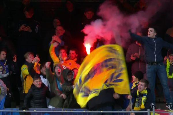 La joie des supporters du SAS Epinal.