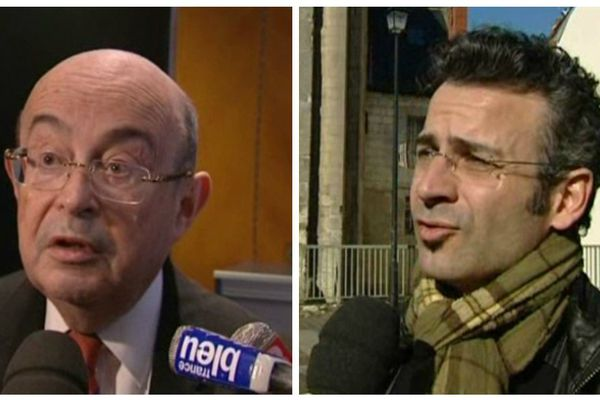 A gauche, Jean-Germain PS, à droite Emmanuel Denis d'EELV.