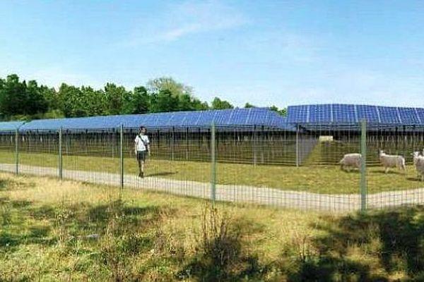 Saint-Gilles (Gard) - simulation de la centrale solaire photovoltaïque de la ZAC MITRA - archives