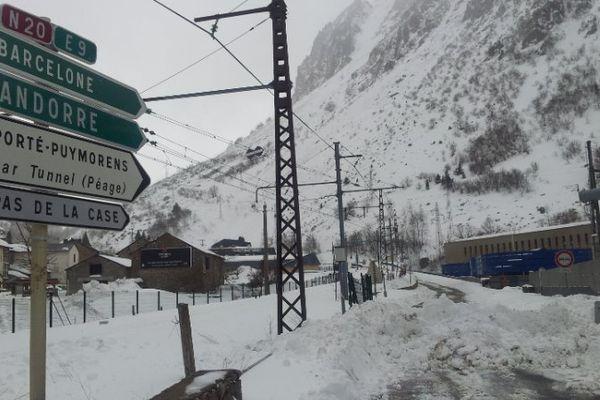 La RN 20 en Ariège est fermée à l'Hospitalet près d'Andorre