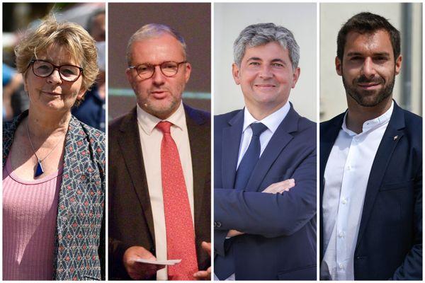 Marie-Guite Dufay, Denis Thuriot, Gilles Platret et Julien Odoul.