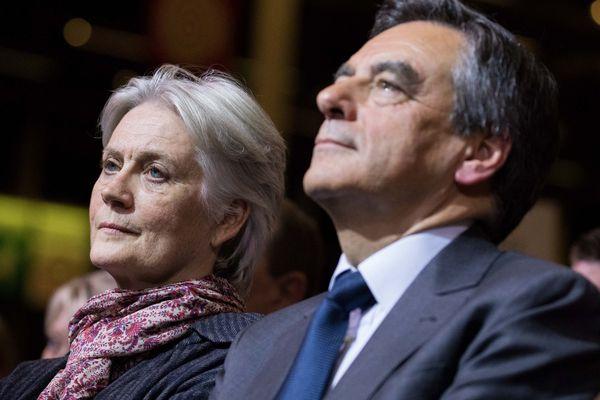 Pénélope et François Fillon le 25 novembre 2016