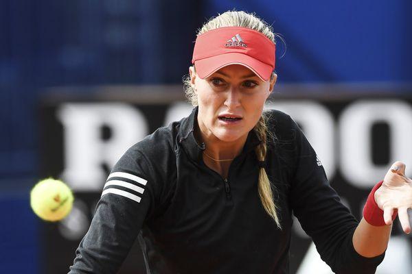 Kristina Mladenovic le 12 avril dernier.