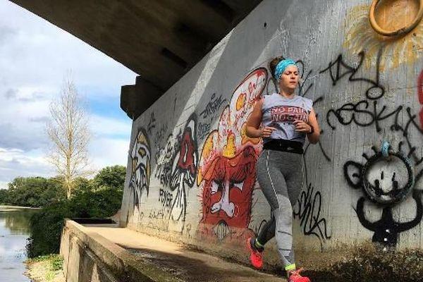 La blogueuse a pris l'habitude de courir sur les bords de Loire.