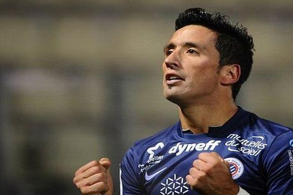 L'homme du match: Lucas Barrios auteur d'un triplé face à Metz - janvier 2015