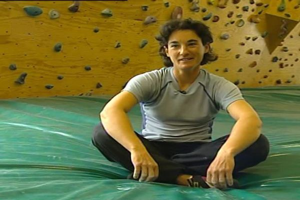 La Drômoise Elisabeth Revol le 24 avril 2008. Nous l'avions rencontré chez elle-