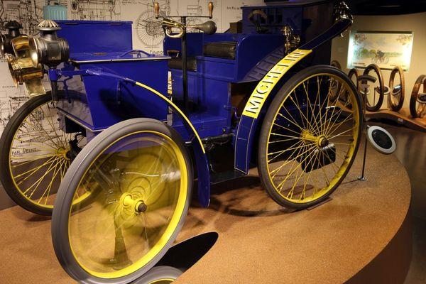 L'Eclair, premier véhicule à pneus à air de Michelin