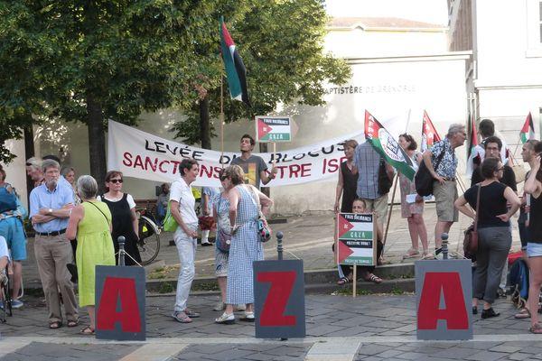A Grenoble, l'association France Palestine solidarité avait rassemblé une centaine de personne en juillet 2017