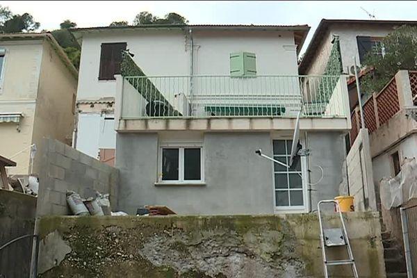 Habitations dans le quartier de la Madeleine supérieure à Nice