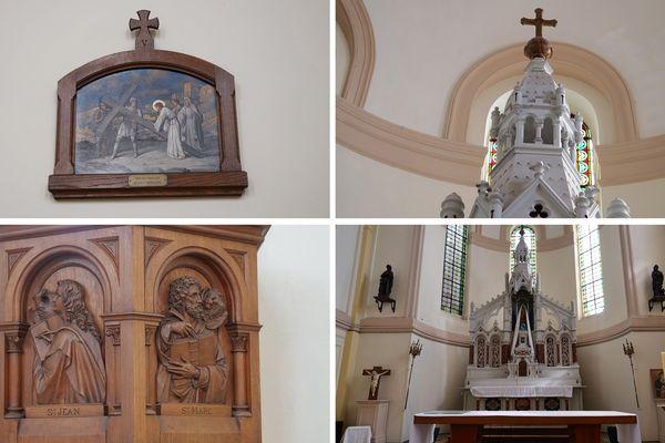 Détails de l'église Saint-Amand de Rieulay