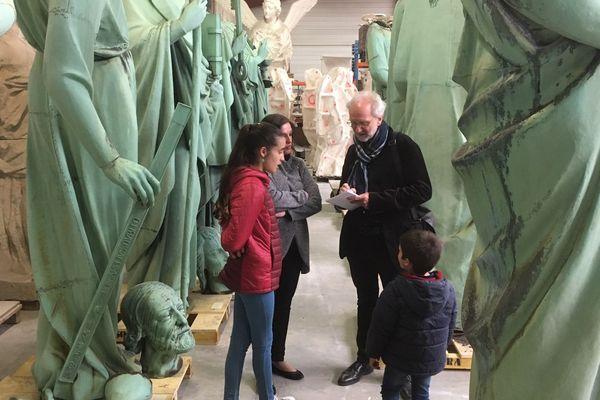 27 personnes sont venues voir les statues miraculées en Dordogne pour ce premier samedi de visite.
