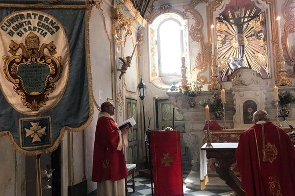 Cette année, la messe du Christ Noir, à Bastia, s'est déroulée à huis clos.