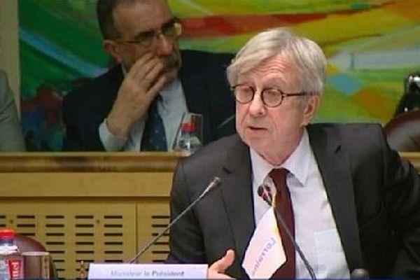Jean-Pierre Masseret, Président du Conseil Régional de Lorraine et tête de liste PS pour les élections régionales de décembre 2015.