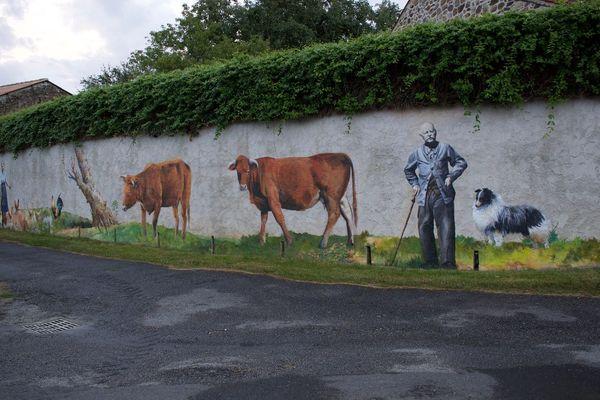 Rural - fresque de Mako Moya à Bussière Poitevine