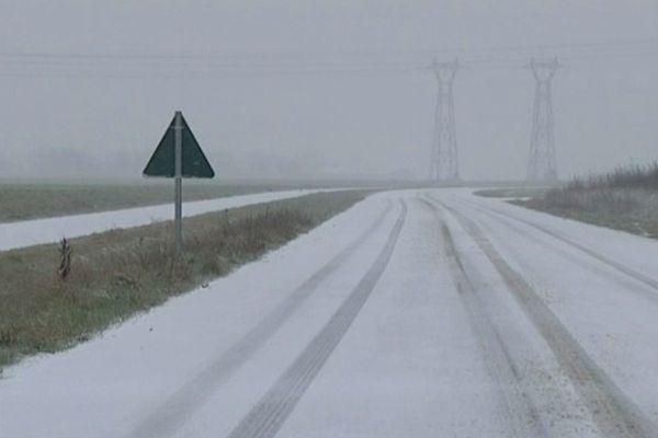 L'Eure-et-Loir sous la neige (12 mars 2013)
