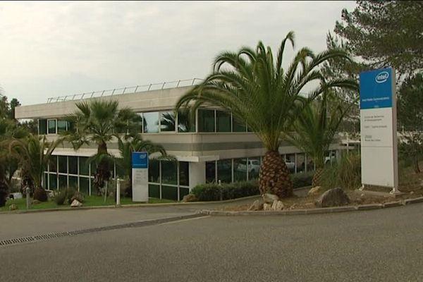 Le site d'Intel à Sophia-antipolis.