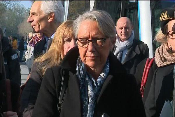 La ministre des transports, Elisabeth Borne, en visite ce lundi matin à Amiens