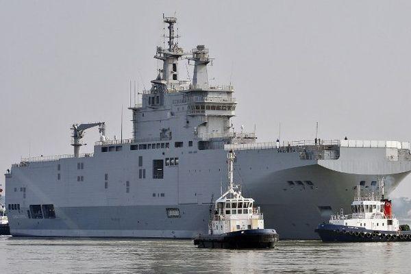 Un des Mistral initialement construit pour la Russie.