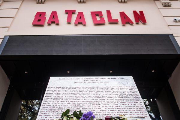 L'entrée du Bataclan, à Paris.