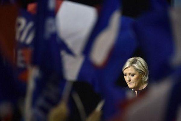 Marine Le Pen était en meeting à Perpignan le 15 avril 2017.