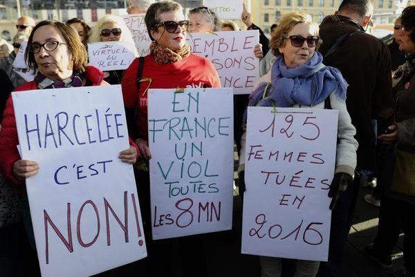 Une manifestation contre les violences sexuelles à Marseille, en 2017.
