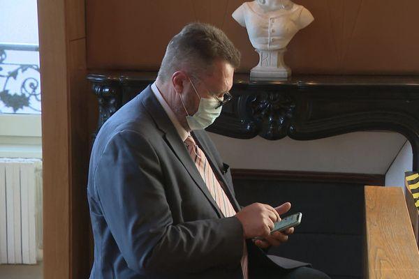 Michel Moine, maire d'Aubusson, au tribunal administratif de Limoge, le 17 septembre 2020.