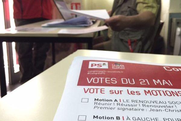 Le vote à la Fédération PS de la Vienne le jeudi 21 mai.