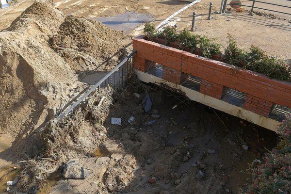 Catalogne - Arenys de Mar, les coulées de boue ont fait un mort - 23 octobre 2019.