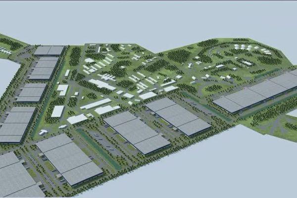 La base aérienne telle qu'elle devrait être transformé dans le projet e-Valley.