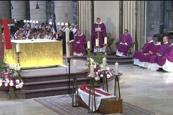 L'archevêque de Rouen lors des obsèques du Père Hamel en juillet dernier