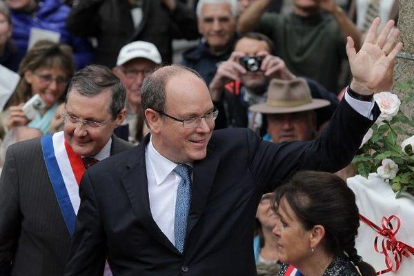 Le prince Albert II de Monaco s'est rendu lundi à Granville pour un déplacement de deux jours.