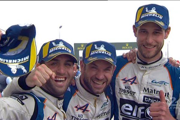 Nouvelle victoire aux 24h du Mans et titre de champion du monde pour les pilotes de l'écurie berruyère Signatech Alpine.