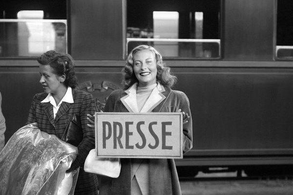 Michèle Morgan au festival de Cannes 1946