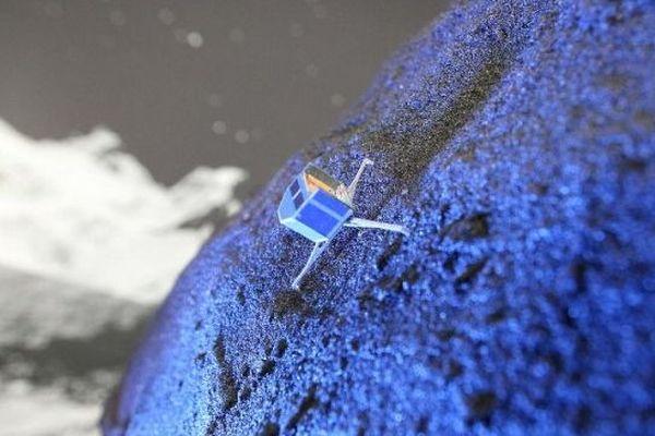 Représentation de Philae sur Tchouri par l'Agence Spatiale Européenne